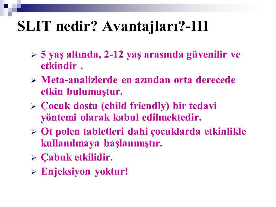 SLIT nedir Avantajları -III