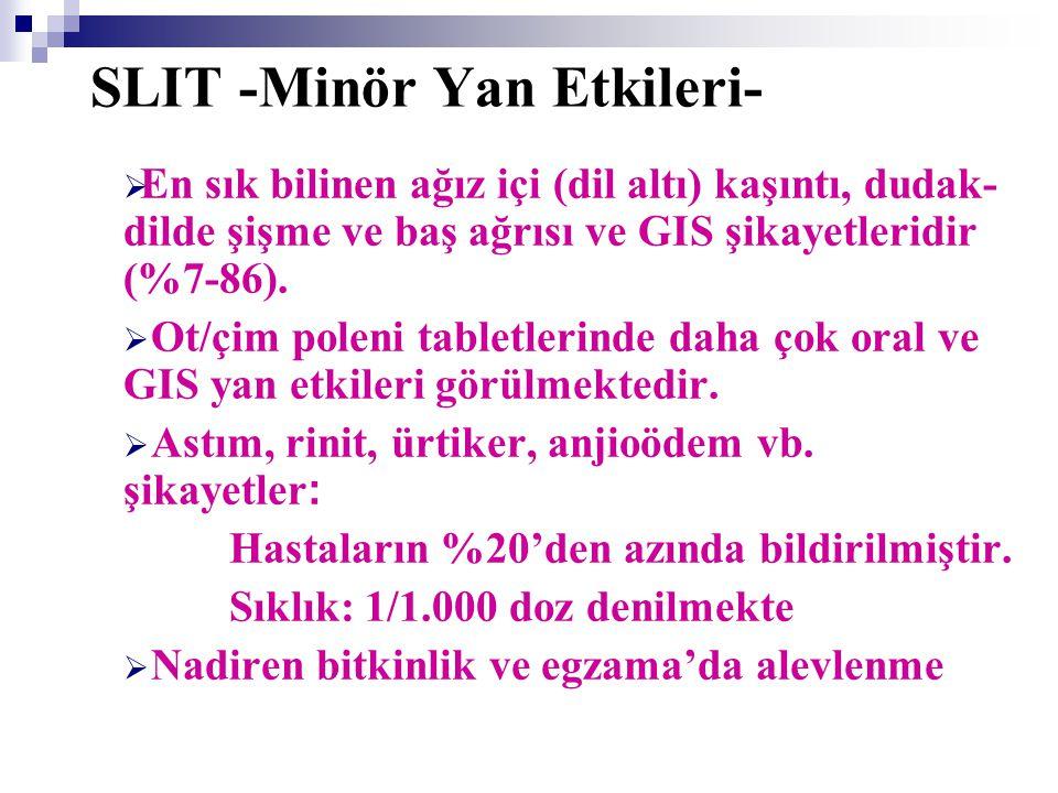 SLIT -Minör Yan Etkileri-