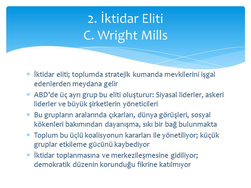 2. İktidar Eliti C. Wright Mills