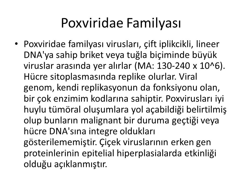Poxviridae Familyası