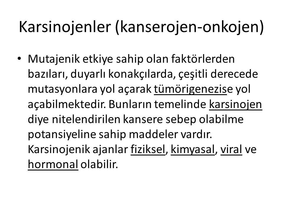 Karsinojenler (kanserojen-onkojen)