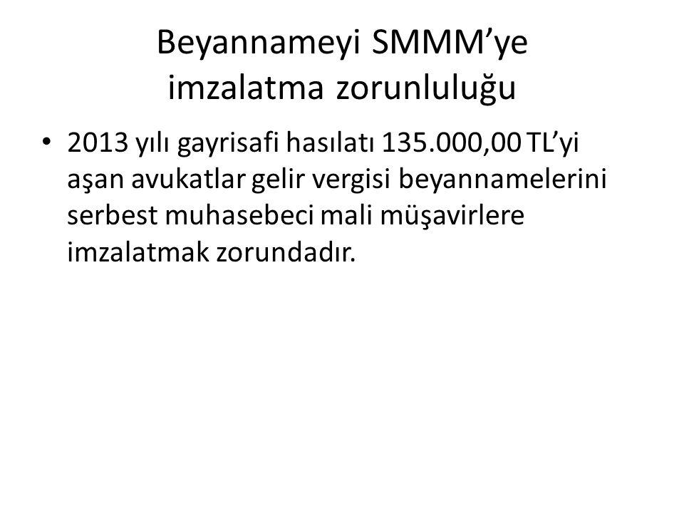 Beyannameyi SMMM'ye imzalatma zorunluluğu