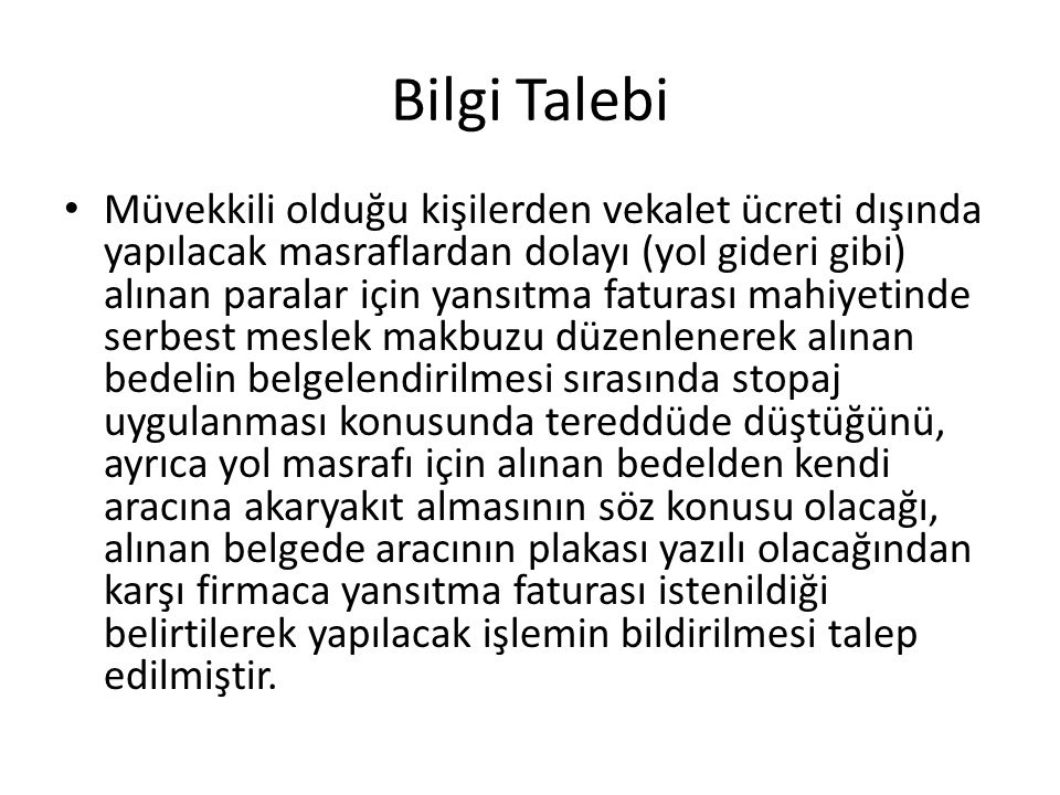 Bilgi Talebi