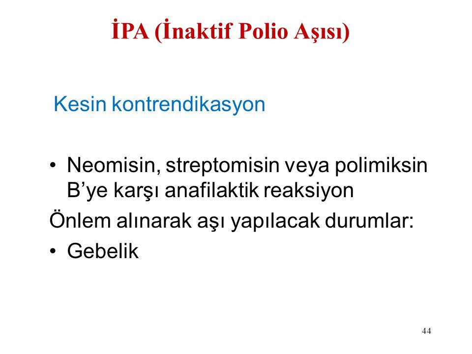 İPA (İnaktif Polio Aşısı)