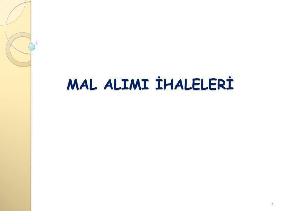 MAL ALIMI İHALELERİ