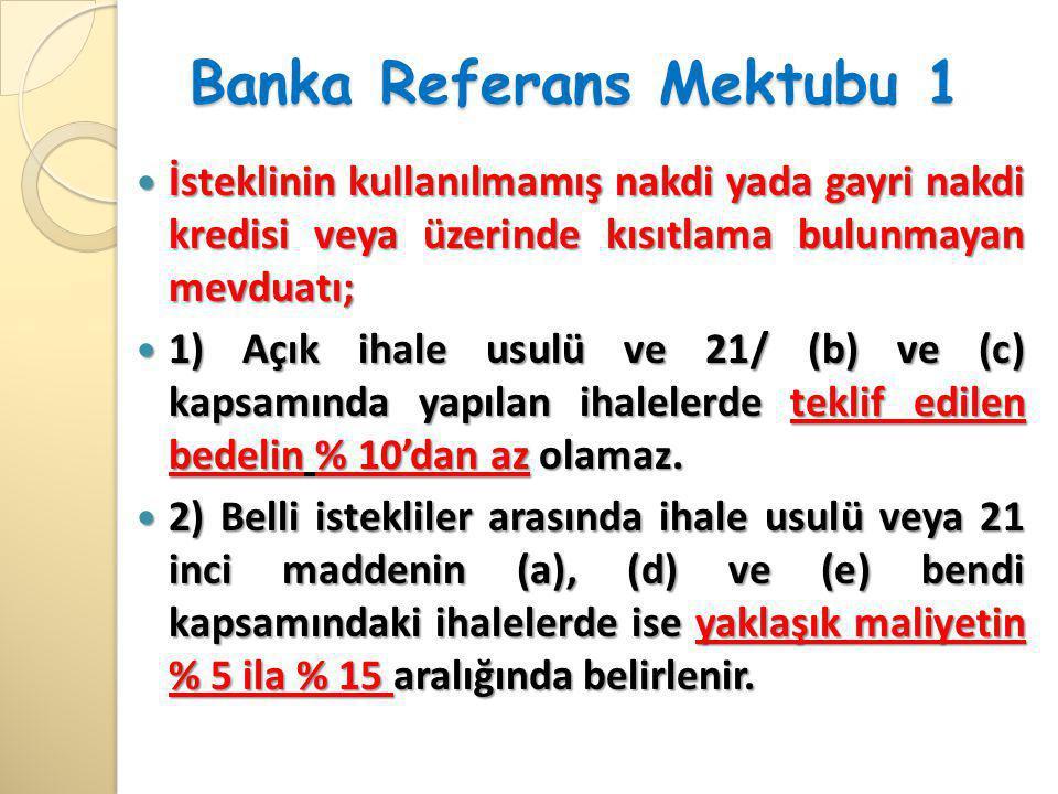 Banka Referans Mektubu 1