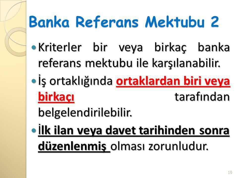 Banka Referans Mektubu 2