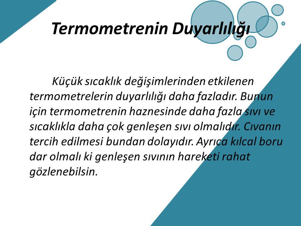 Termometrenin Duyarlılığı
