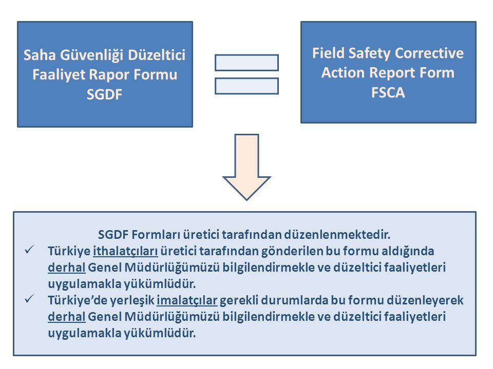 Saha Güvenliği Düzeltici Faaliyet Rapor Formu SGDF