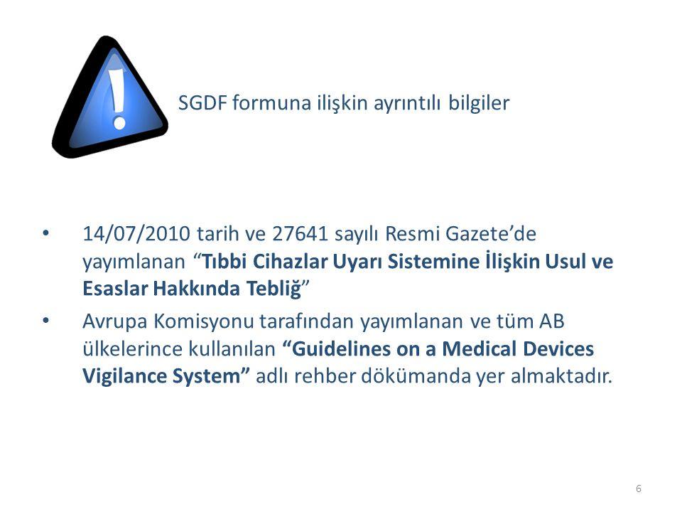 SGDF formuna ilişkin ayrıntılı bilgiler