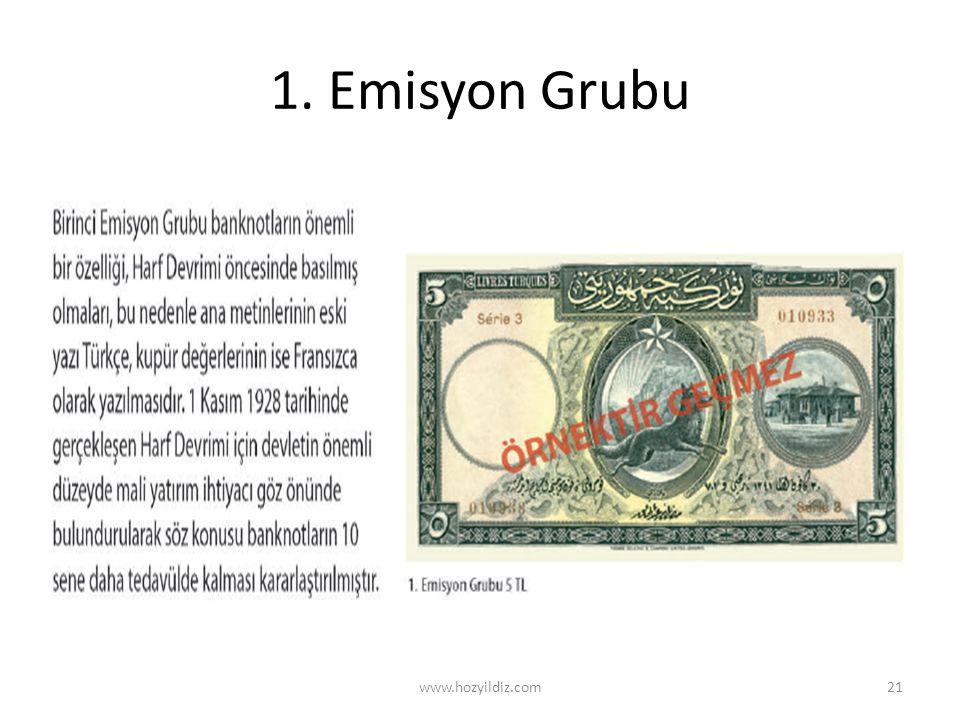 1. Emisyon Grubu www.hozyildiz.com
