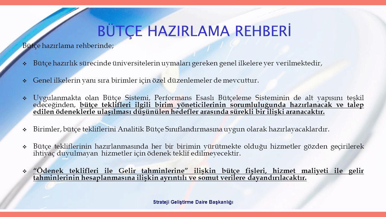 BÜTÇE HAZIRLAMA REHBERİ