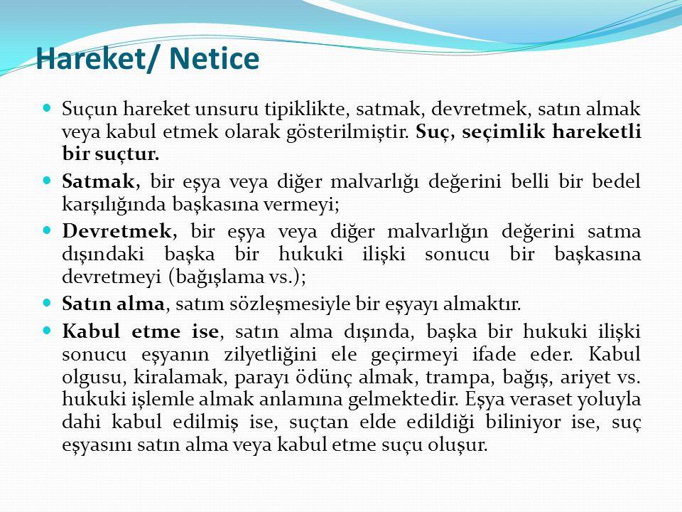 Hareket/ Netice