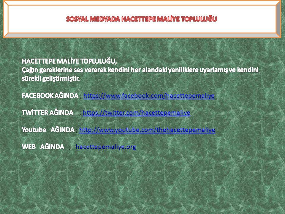SOSYAL MEDYADA HACETTEPE MALİYE TOPLULUĞU