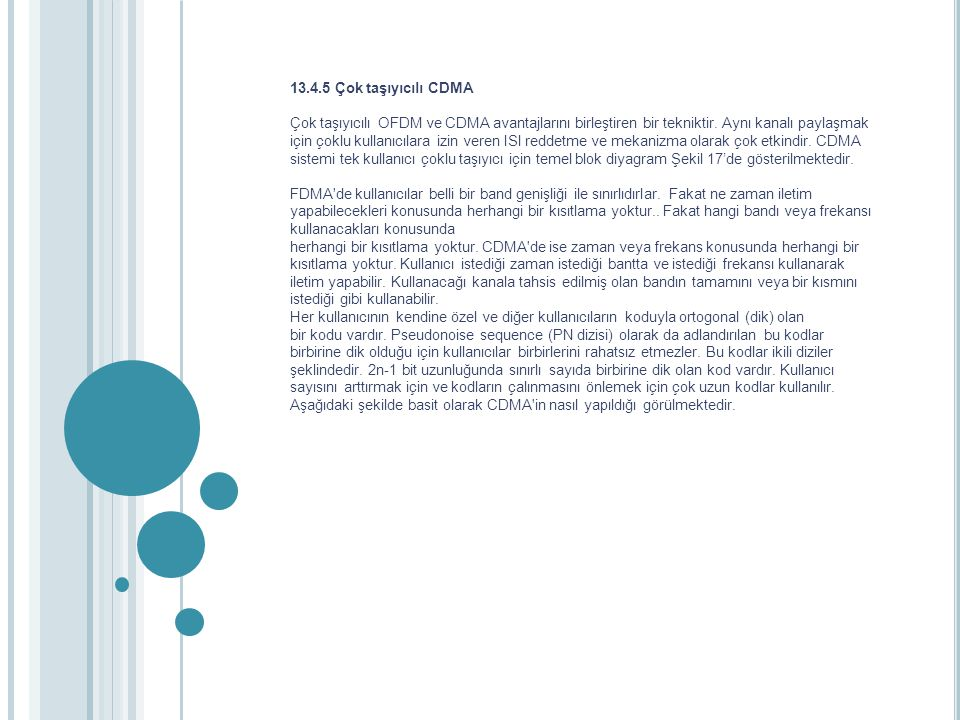 13.4.5 Çok taşıyıcılı CDMA