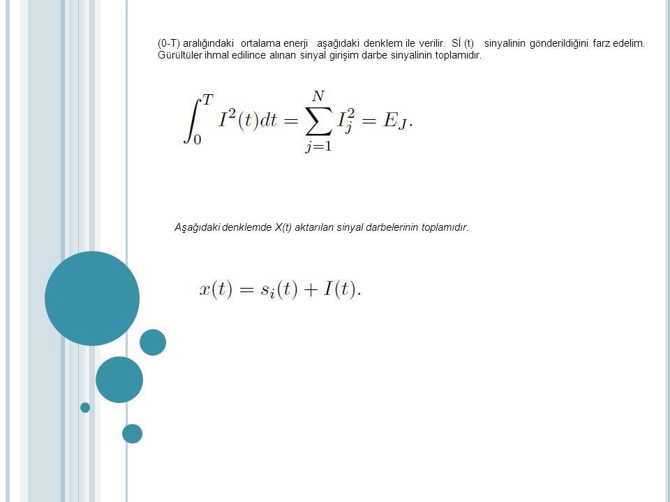 (0-T) aralığındaki ortalama enerji aşağıdaki denklem ile verilir