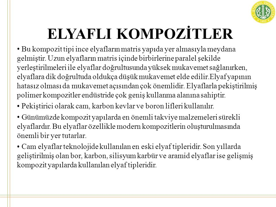 ELYAFLI KOMPOZİTLER