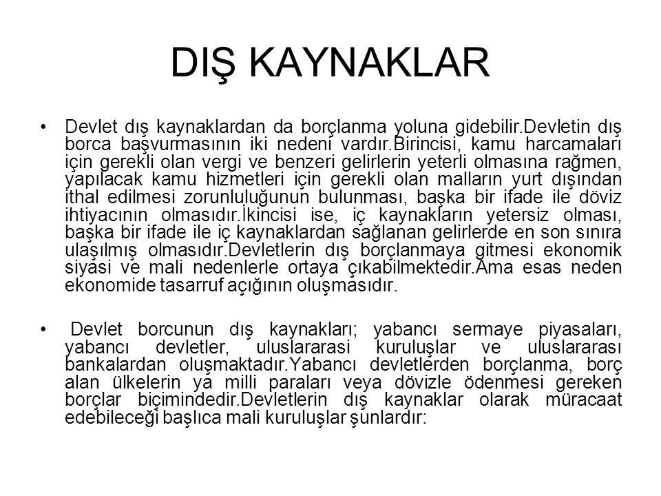 DIŞ KAYNAKLAR