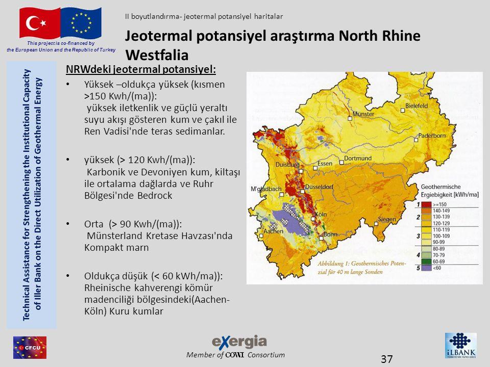 Jeotermal potansiyel araştırma North Rhine Westfalia