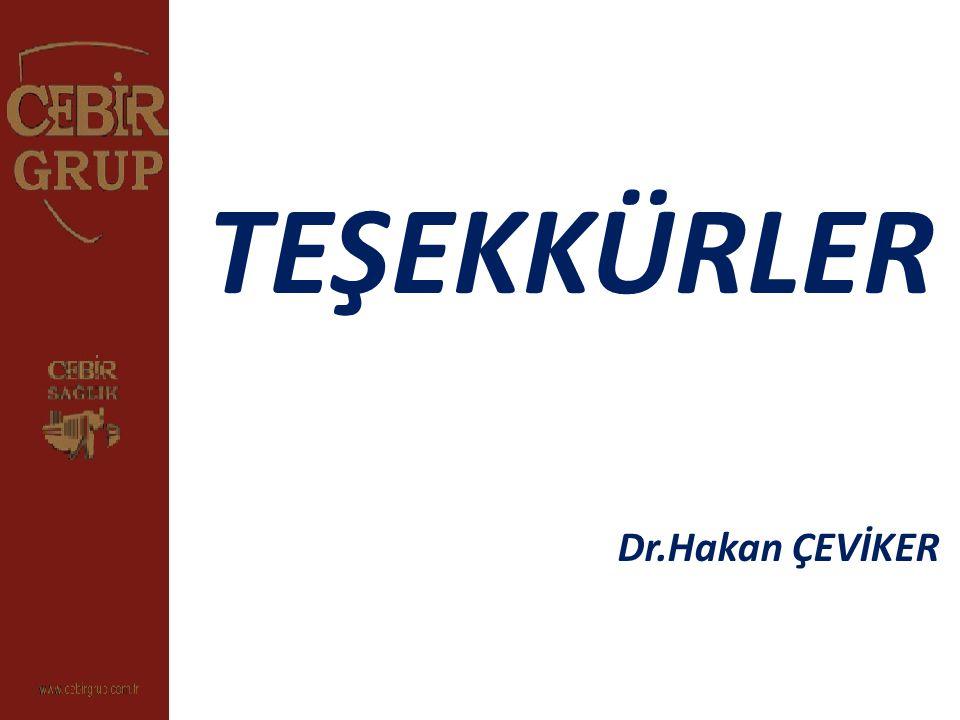 TEŞEKKÜRLER Dr.Hakan ÇEVİKER