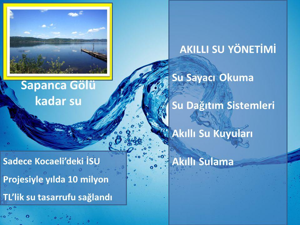 Sapanca Gölü kadar su AKILLI SU YÖNETİMİ Su Sayacı Okuma