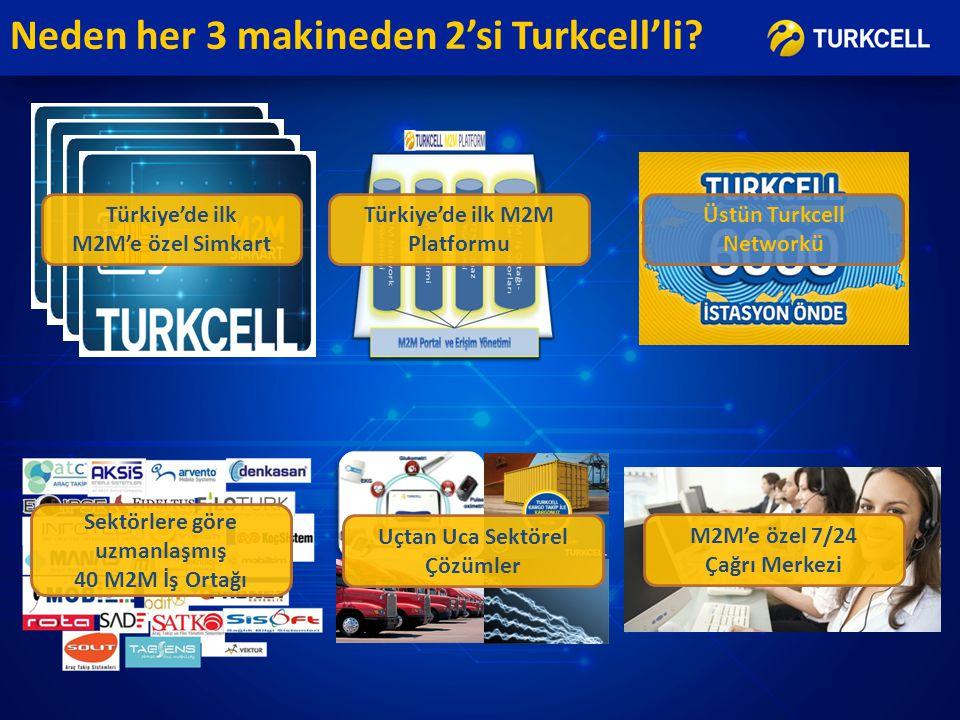 Neden her 3 makineden 2'si Turkcell'li