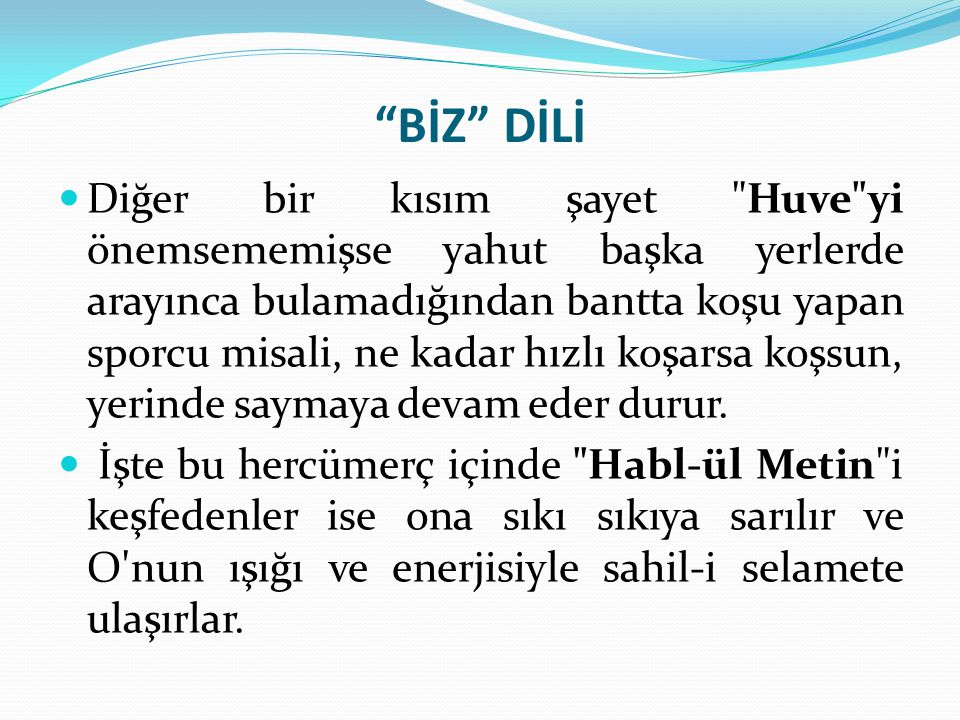 BİZ DİLİ