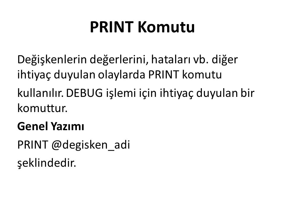 PRINT Komutu