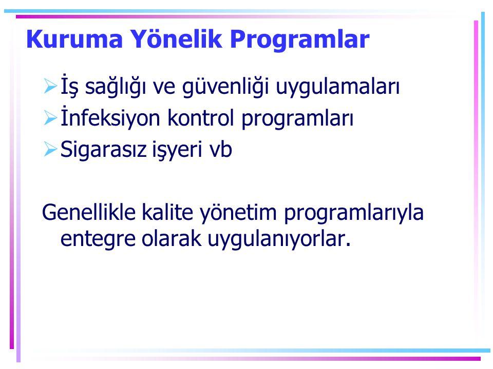 Kuruma Yönelik Programlar