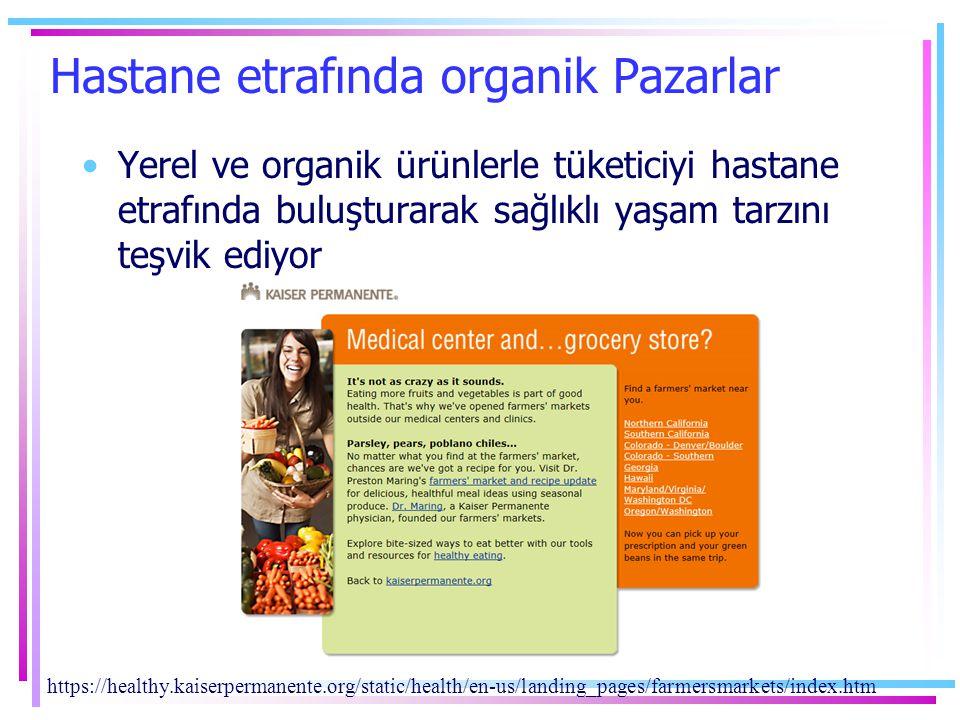 Hastane etrafında organik Pazarlar