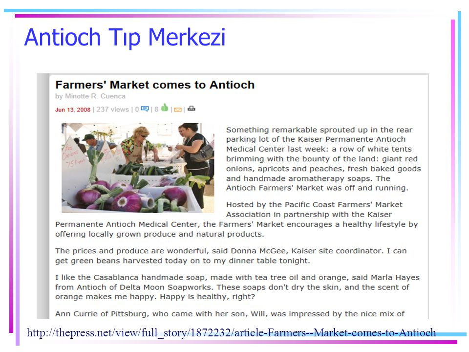 Antioch Tıp Merkezi http://thepress.net/view/full_story/1872232/article-Farmers--Market-comes-to-Antioch.