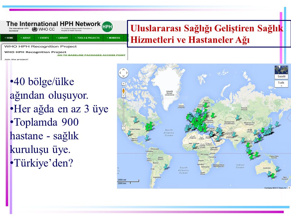 40 bölge/ülke ağından oluşuyor. Her ağda en az 3 üye