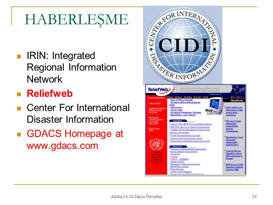 HABERLEŞME IRIN: Integrated Regional Information Network Reliefweb