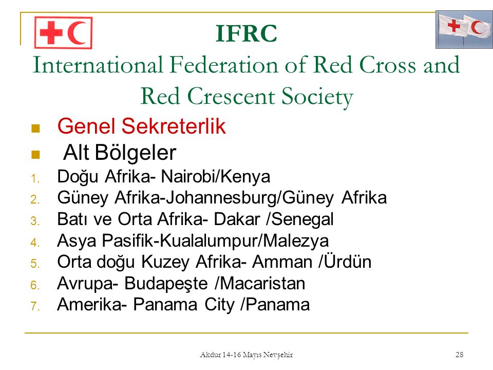 IFRC International Federation of Red Cross and Red Crescent Society