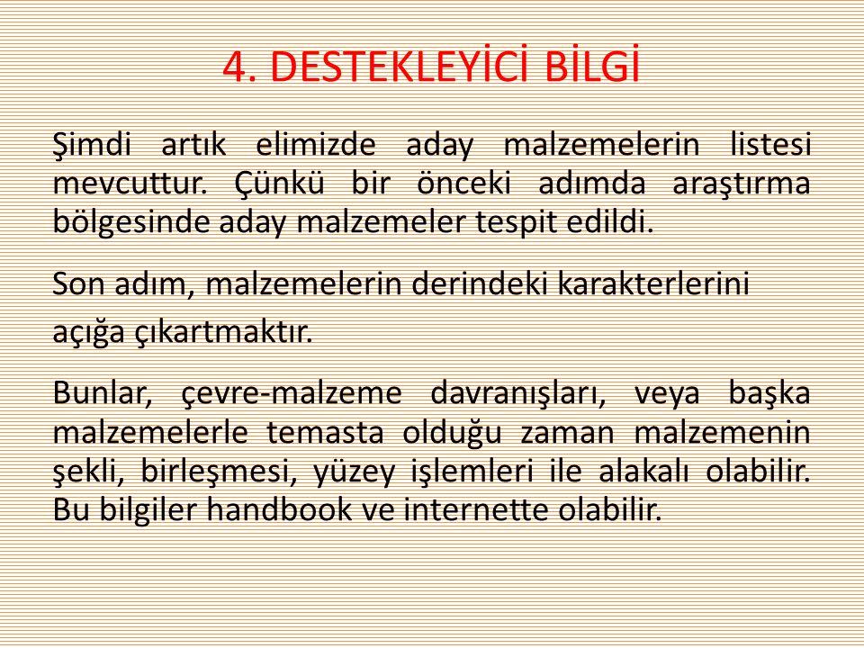 4. DESTEKLEYİCİ BİLGİ