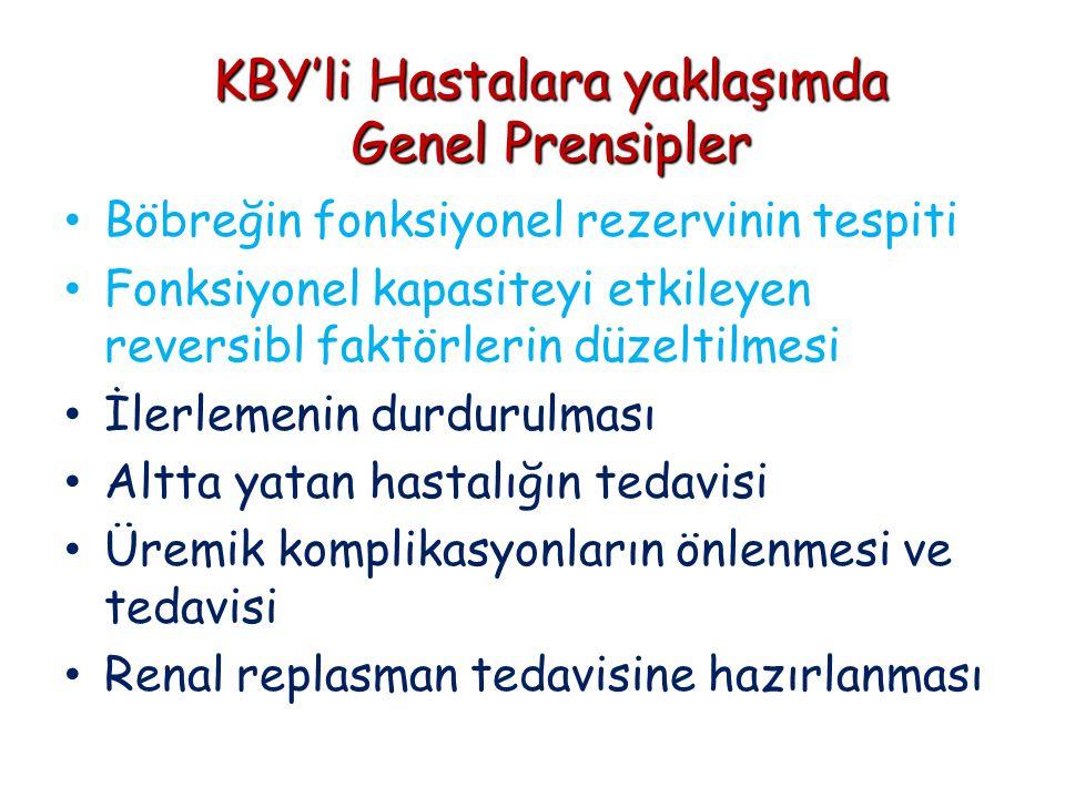 KBY'li Hastalara yaklaşımda Genel Prensipler