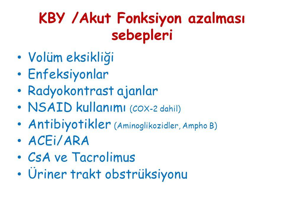 KBY /Akut Fonksiyon azalması sebepleri