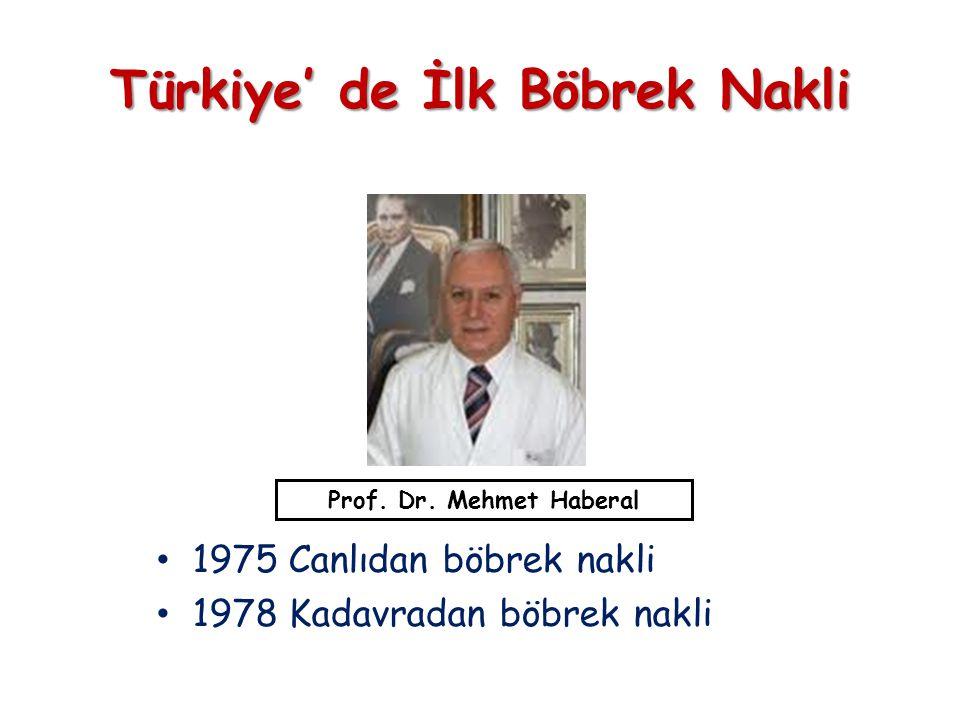 Türkiye' de İlk Böbrek Nakli