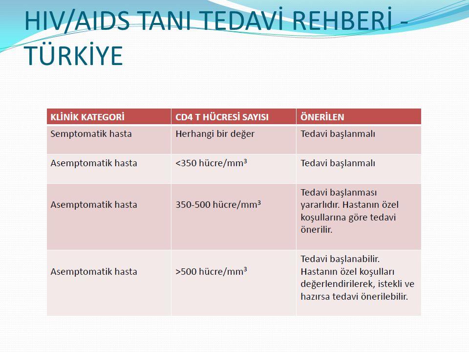 HIV/AIDS TANI TEDAVİ REHBERİ - TÜRKİYE