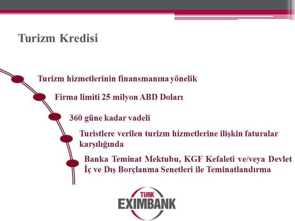 Turizm Kredisi Turizm hizmetlerinin finansmanına yönelik