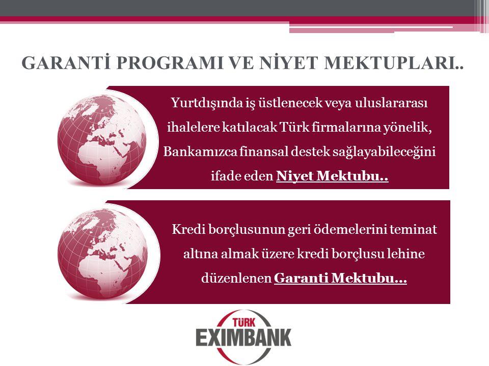 GARANTİ PROGRAMI VE NİYET MEKTUPLARI..