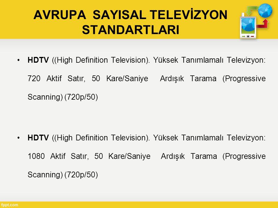 AVRUPA SAYISAL TELEVİZYON STANDARTLARI