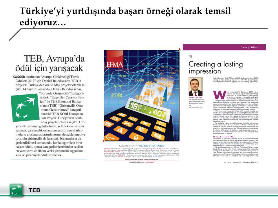 Türkiye'yi yurtdışında başarı örneği olarak temsil ediyoruz…