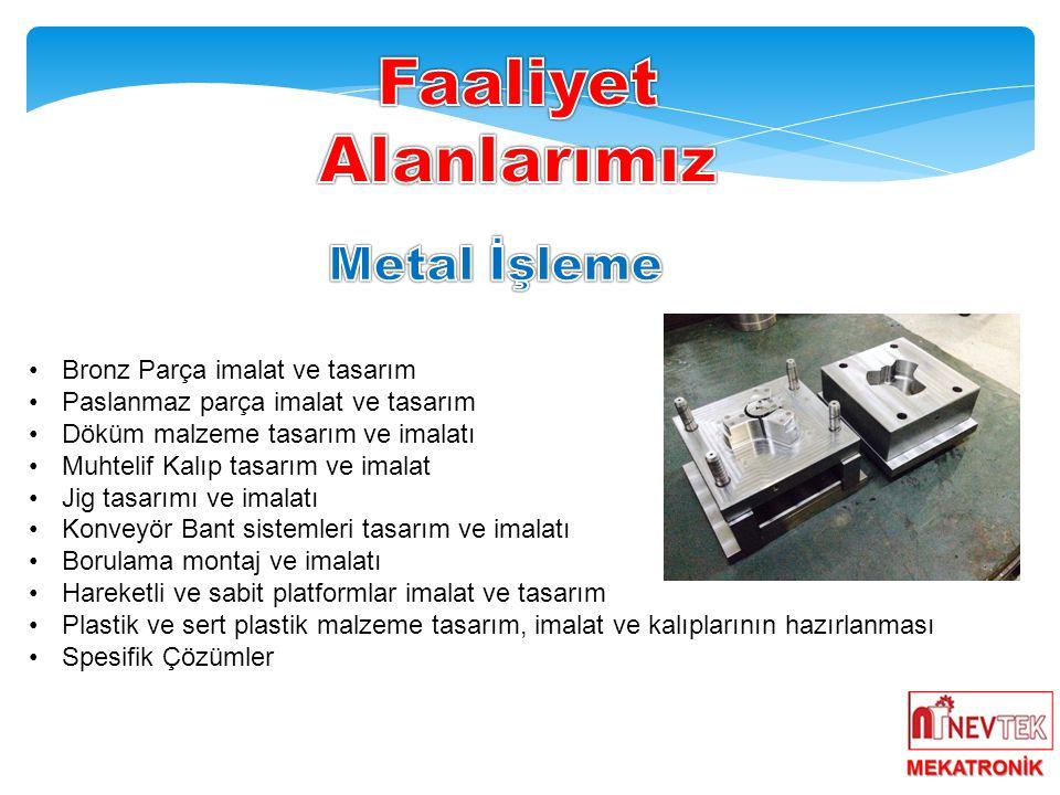 Faaliyet Alanlarımız Metal İşleme Bronz Parça imalat ve tasarım