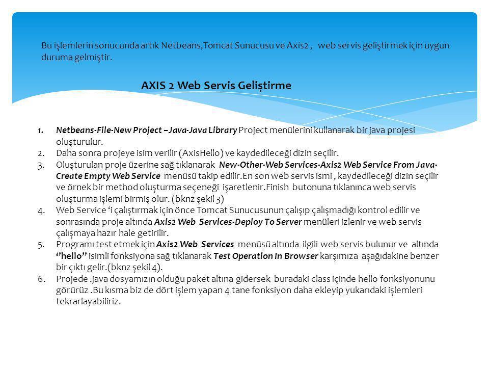 AXIS 2 Web Servis Geliştirme