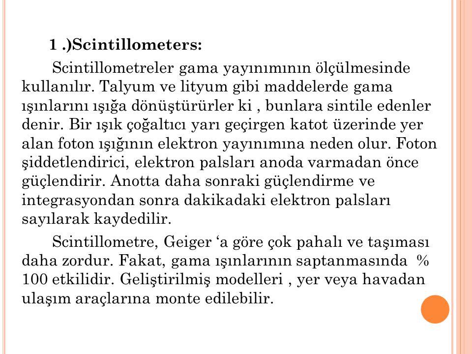 1 .)Scintillometers: