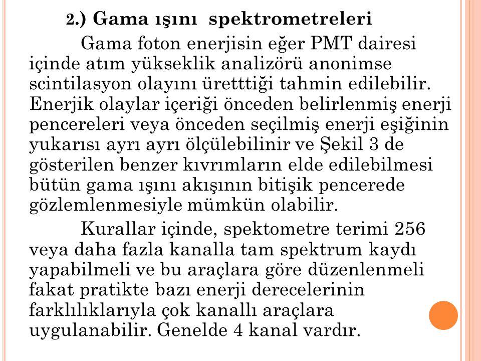 2.) Gama ışını spektrometreleri