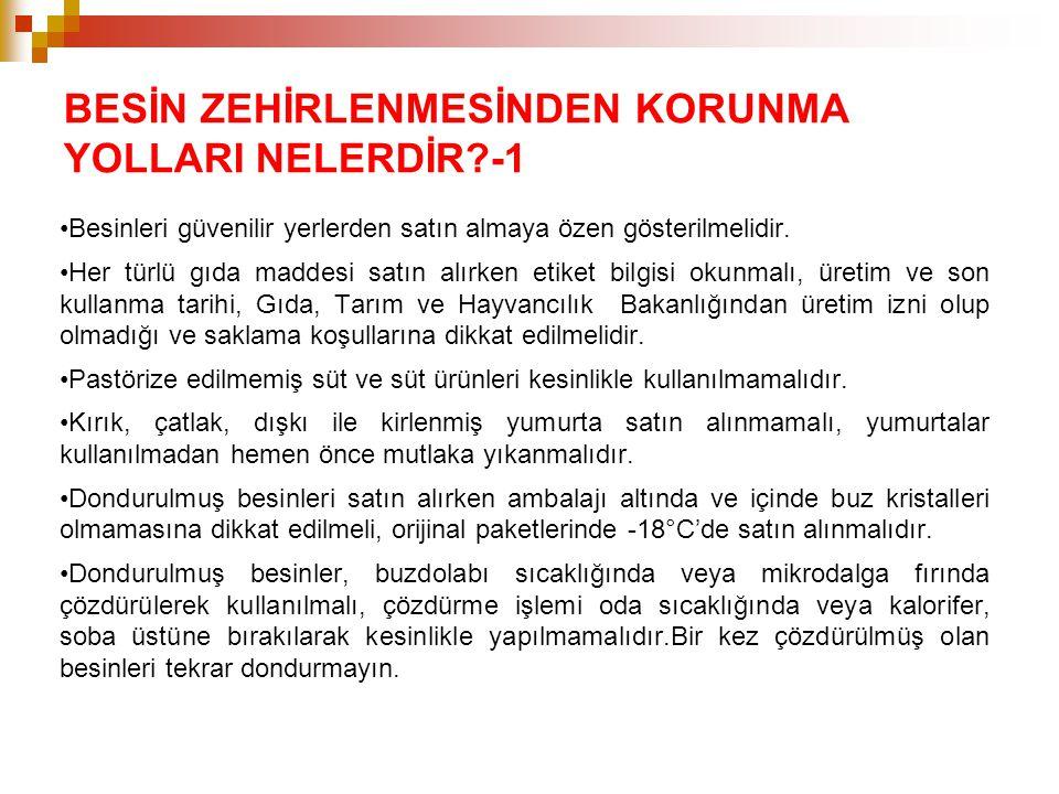 BESİN ZEHİRLENMESİNDEN KORUNMA YOLLARI NELERDİR -1