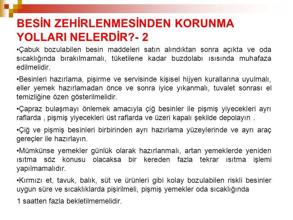 BESİN ZEHİRLENMESİNDEN KORUNMA YOLLARI NELERDİR - 2