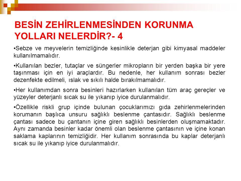 BESİN ZEHİRLENMESİNDEN KORUNMA YOLLARI NELERDİR - 4